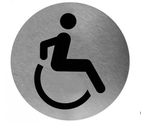 Pictogram disabled stainless steel