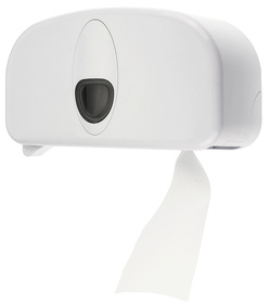 2rolls dispenser plastic white (standard)