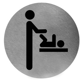 Pictogram nappy changing stainless steel
